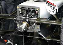 McLaren front suspension uncoverd