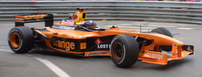 Arrows A23 driven by Heinz-Harald Frentzen at Monaco 2002