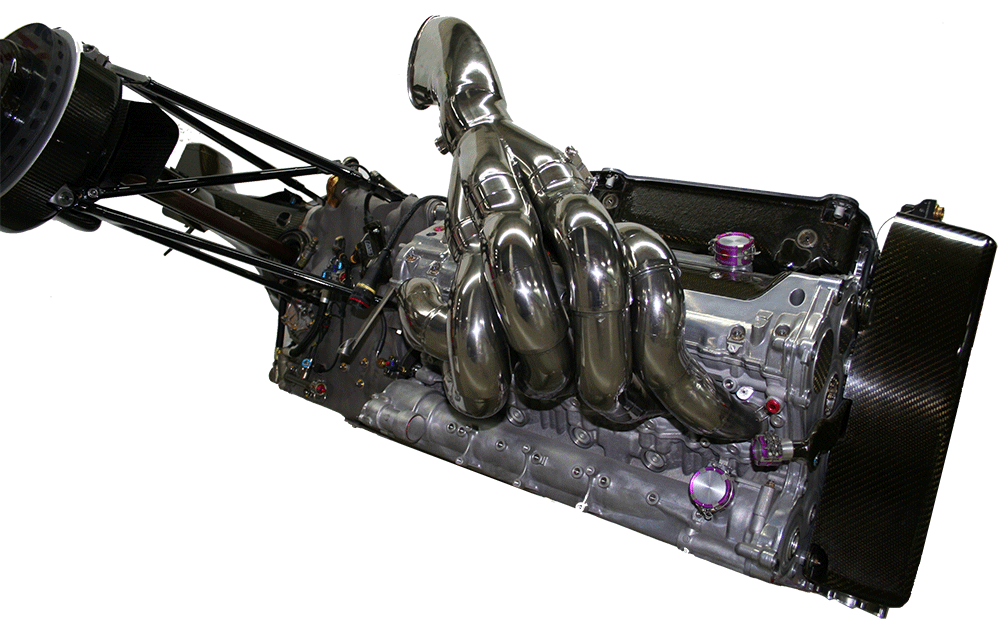 Toyota RVX-03 with gearbox and rear suspension, by Steven De Groote