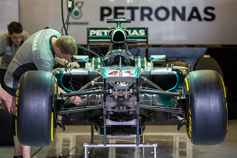 Mercedes F1 W05 at the Abu Dhabi GP, 2014