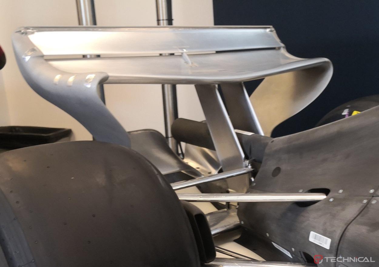 2021 f1 wind tunnel model - rear wing