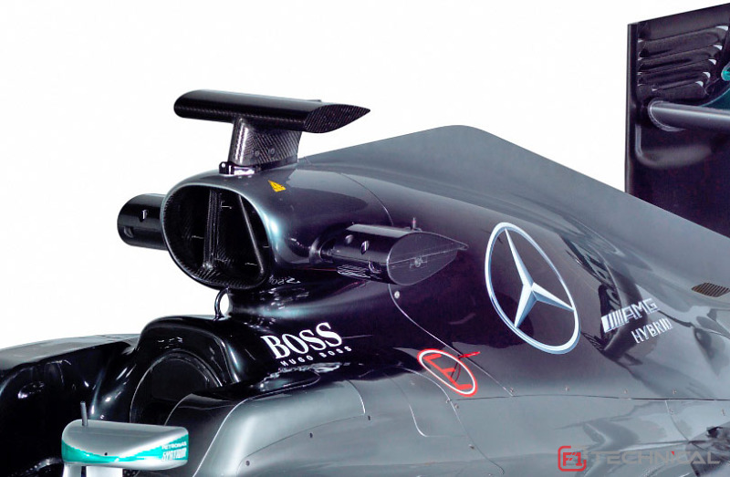 Mercedes F1 W07 Airbox Detail Photo Gallery F1technical Net