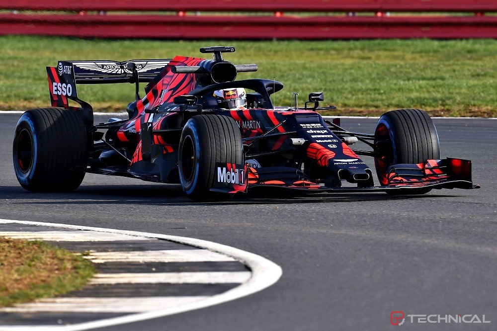 Max Verstappen of the Netherlands driving the Aston Martin Red Bull Racing RB15