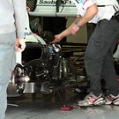 Sauber sidepod uncovered