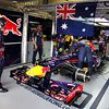 Red Bull Racing celebrate the final race for Mark Webber
