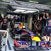 Red Bull in pits
