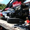 Crashed Lotus E21 from Grosjean