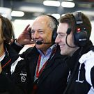 Ron Dennis and Stoffel Vandoorne in the garage