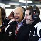Ron Dennis and Stoffel Vandoorne in the garage