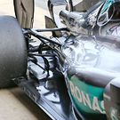 Mercedes AMG F1 W07 Hybrid rear suspension detail