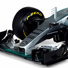 Mercedes F1 W07, nose cone detail