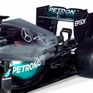 Mercedes F1 W07, sidepod and exhaust details
