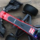 Haas VF-17 front wing and front suspension