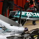 Mercedes AMG F1 W08 double T-wing on the engine cover