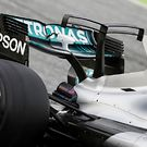 Mercedes AMG F1 W08 engine cover T-Wing
