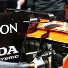 McLaren MCL32 engine cover T-Wing
