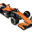 McLaren MCL32 3 quarter view