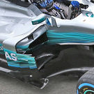 Mercedes AMG F1 W08 bargeboard detail