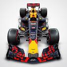Red Bull RB13 Renaut - top studio render