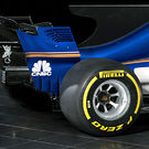 Sauber C36 diffuser and rear wing detail