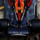 Red Bull Racing RB14 rear suspension and rear wing detail