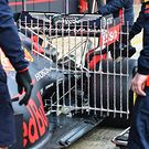 Red Bull Racing RB15 - sensor equipment at the rear suspension