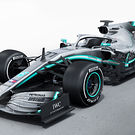 Mercedes W10 rendering - 3 quarter view