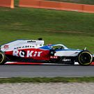 Williams FW43 track debut
