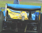 Renault R23B exhausts