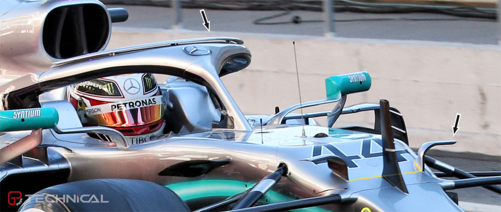 Mercedes re-introduces ear winglets alongside S-duct exit