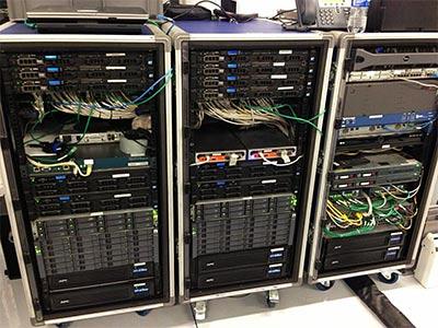 Telemetry server racks