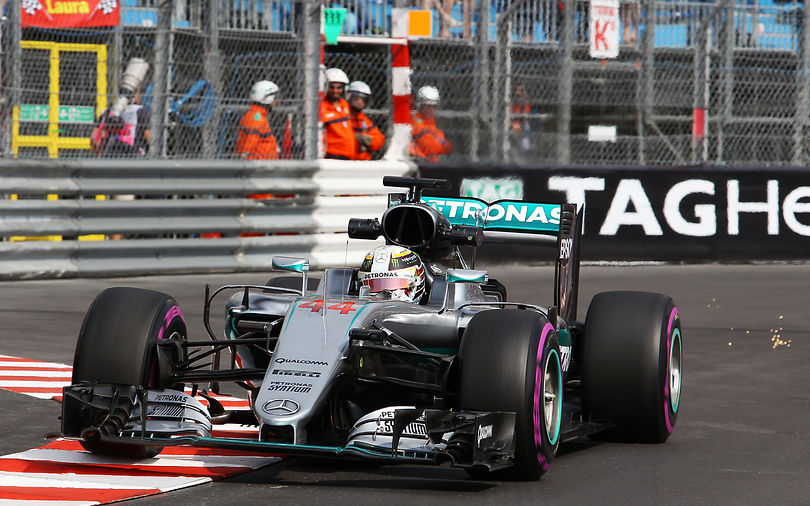 Hamilton tops incident filled first practice