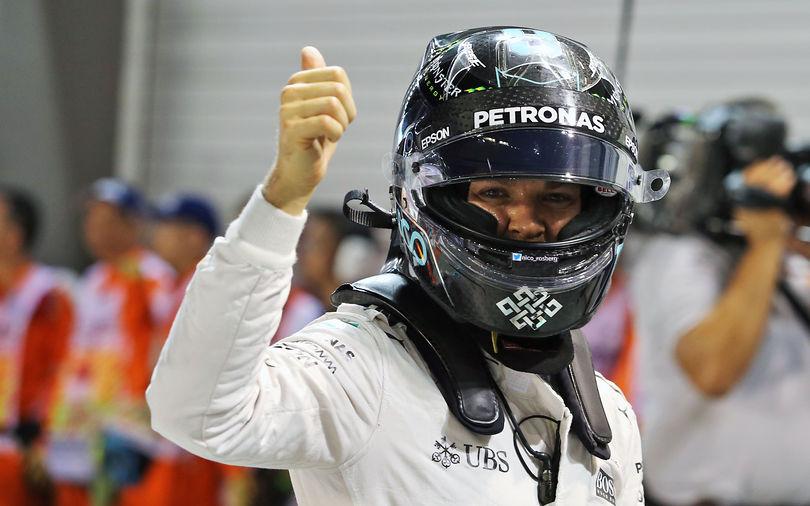 Rosberg eases to pole, Ricciardo to start alongside
