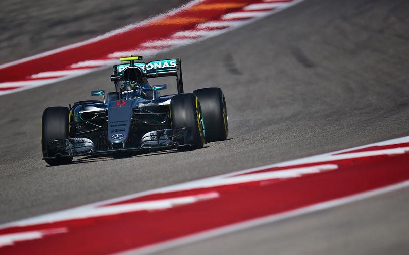 Rosberg tops second practice