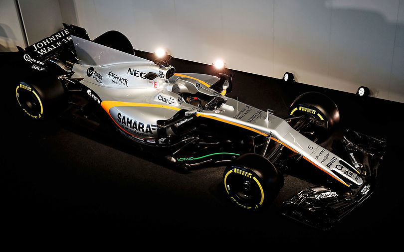 Force India uncovers its VJM10 F1 car