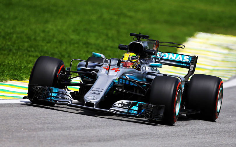 Mercedes easily fastest in first practice at Brazil