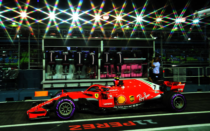 FP2: Raikkonen ahead as Vettel scrubs wall