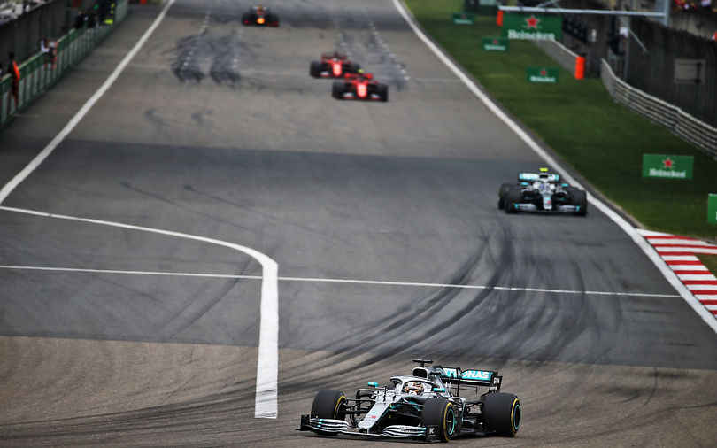 Hamilton wins Chinese GP, leads third Mercedes 1-2 of season
