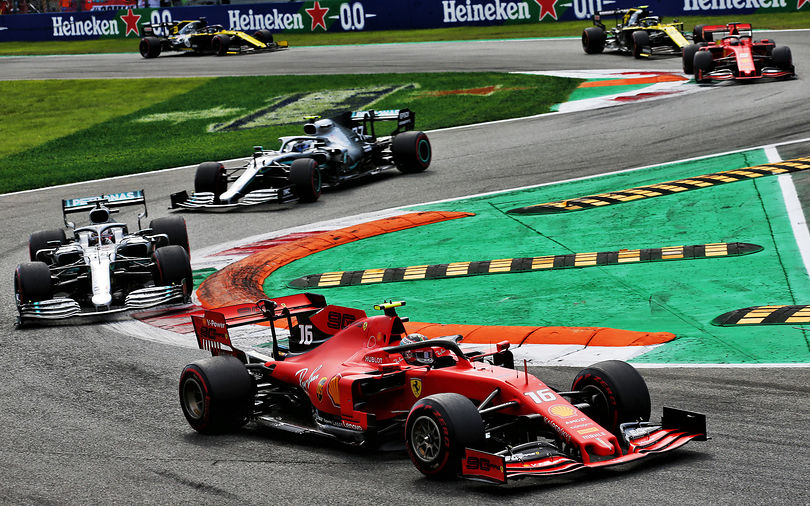 Leclerc battles Mercedes to take brilliant victory at Monza