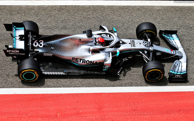 Bahrain test: Russell fastest with Mercedes