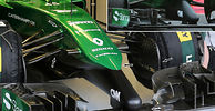 Caterham debuts new nose cone