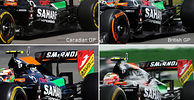 Force India continues to switch between engine covers