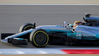 Hamilton tops first day of in-season Bahrain test