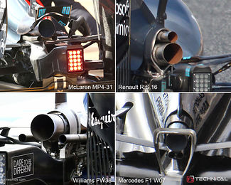 Exhaust solutions, mickey mouse or snowman? - F1technical net